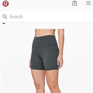 Lululemon high waist shorts